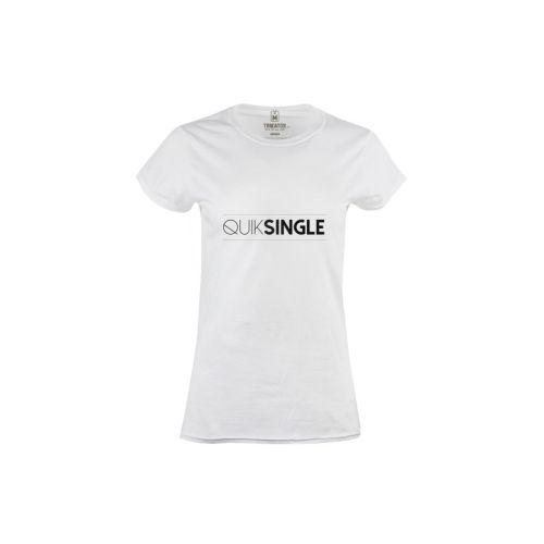 Dámské bílé tričko Quiksingle