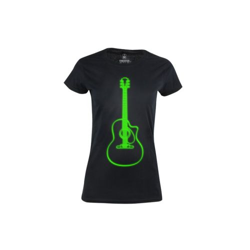 Dámské tričko Neonová kytara